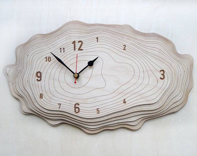 Medium Bark clock - unique wall clock