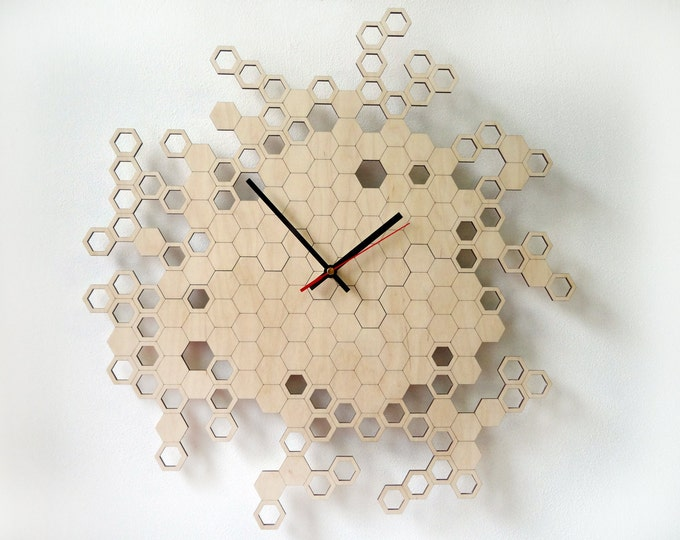 Honeycomb Original Wall Clock (large)
