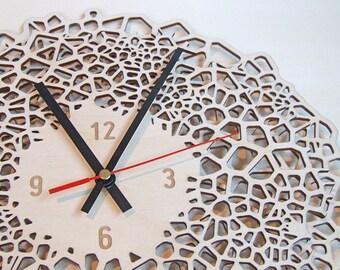 Large Wall clock - The Big Giraffe - wood
