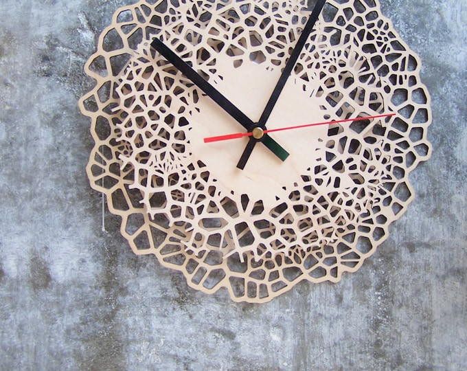 Wooden clock - Giraffe pattern - size Medium