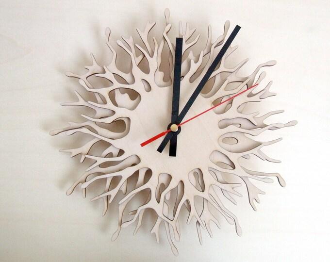 Modern wall clocks - Coral branch