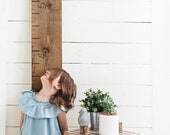 Wooden Growth Chart Personalized Ruler Rustic Height Chart First Birthday Nursery Decor Wall Kid Decor Measuring Stick Oversized Signature