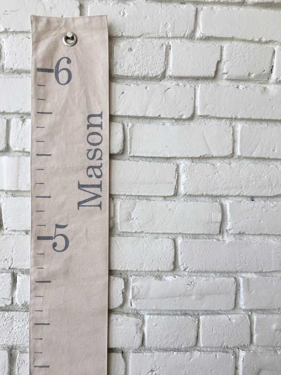 Personalized Canvas Growth Chart Ruler Free Shipping Etsy