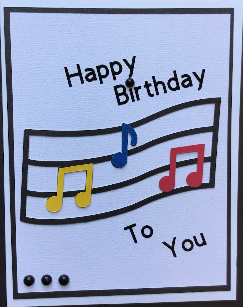 Music Birthday Cardhappy To Youmusic Lover