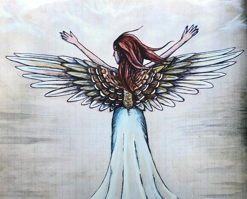 Wings of Faith Print with Poem