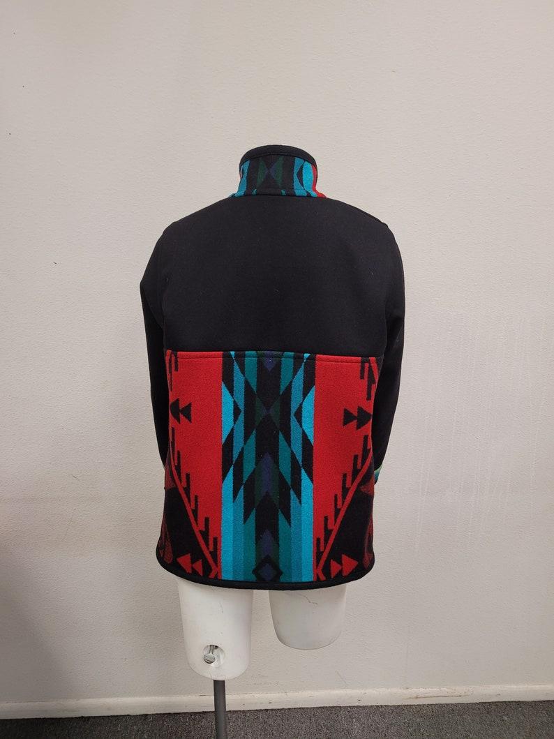 Southwest Wool Native American Reversible Blanket Coat