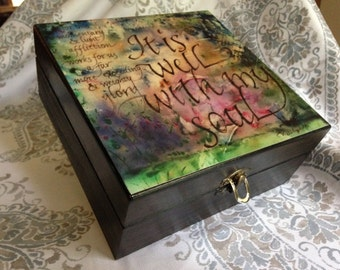 Essential Oil Decorative Storage Box- It is Well