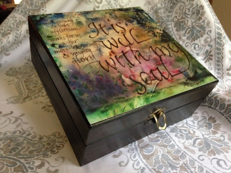 Essential Oil Decorative Storage Box It is Well image 0