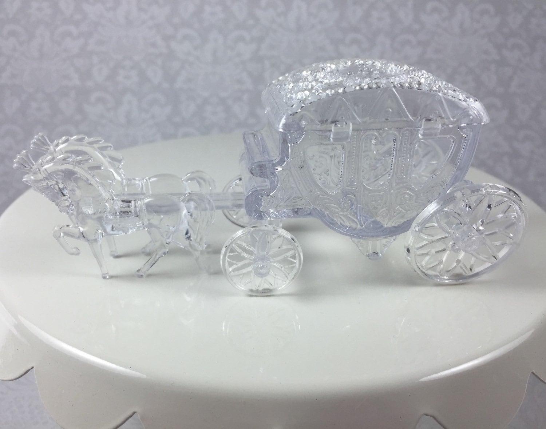 12 Clear Horse Drawn Cinderella Coach Carriage - Wedding ...