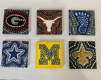 Sports Team hand painted magnets