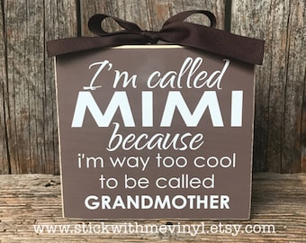 Mimi sign, grandma sign, mimi gifts, grandma gift, Mother's day gift, personalized gift, grandmother gift, gifts for mimi, grandparents sign