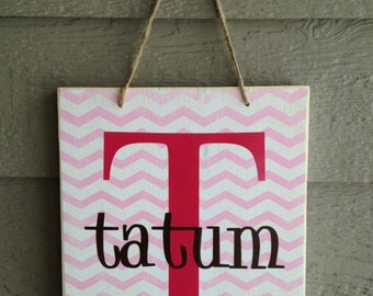 PERSONALIZED nursery sign, children's name sign, chevron sign, child name board, wood sign, nursery decor, nursery sign, home decor