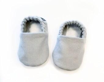 61c297d0acb Grey Baby Booties