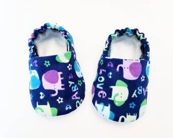 Baby Booties, Baby Girl, Baby Slippers, Baby Crib Shoes, Baby Moccs, Baby Shoes, Animal Booties, Animal Slippers, Elephant Baby Slippers