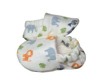 Safari Baby Booties, Zoo Animal Baby Gift, Baby Slippers, Crib Shoes, Baby Moccs, Baby Shoes, Animal Baby Booties, Zoo Animal Slippers