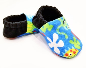 Monster Baby Shoes, Monster Baby Gift, Monster Baby Slippers, Baby Crib Shoes, Monster Baby Moccs, Baby Shoes, Baby Accessories