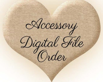 Digital File Order for a Matching Accessory Item of Heartfelt Invitations