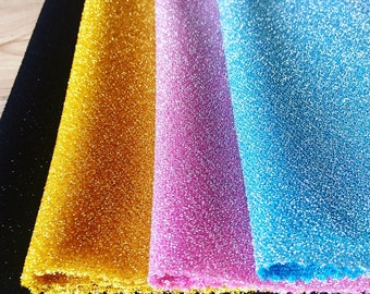 47e40d93768 Lightweight Metallic Lurex Fabric Stretch Jersey Material - Sparkling Pink  Blue Gold Black Glitter - 150cm wide