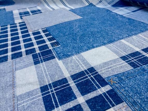 Stretch-Futterstoff  1 m x 138 cm breit dunkelblau,