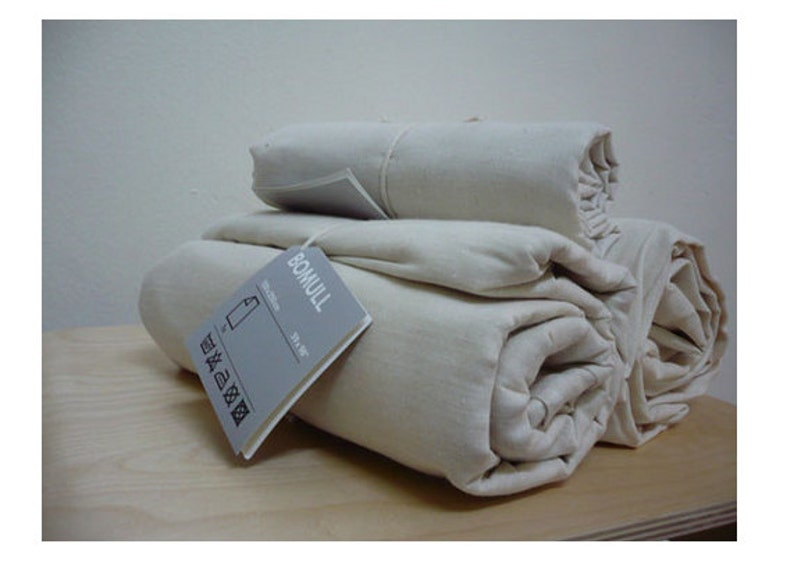 74e2b273d0da IKEA Bomull Unbleached Uncoloured 100% Cotton Curtain Lining Fabric - 150cm  wide - sold by the metre