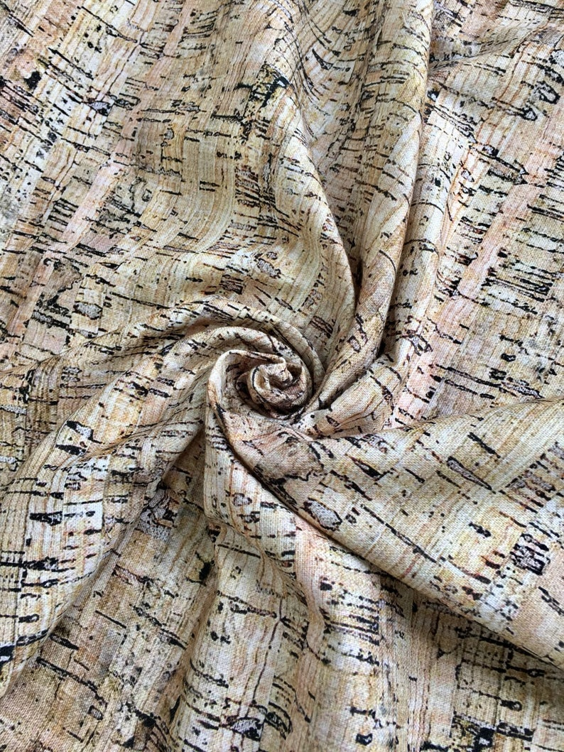 RUSTIC CORK Cotton Fabric Material for Curtain Upholstery Dress Cloth Extra Wide Canvas 280cm