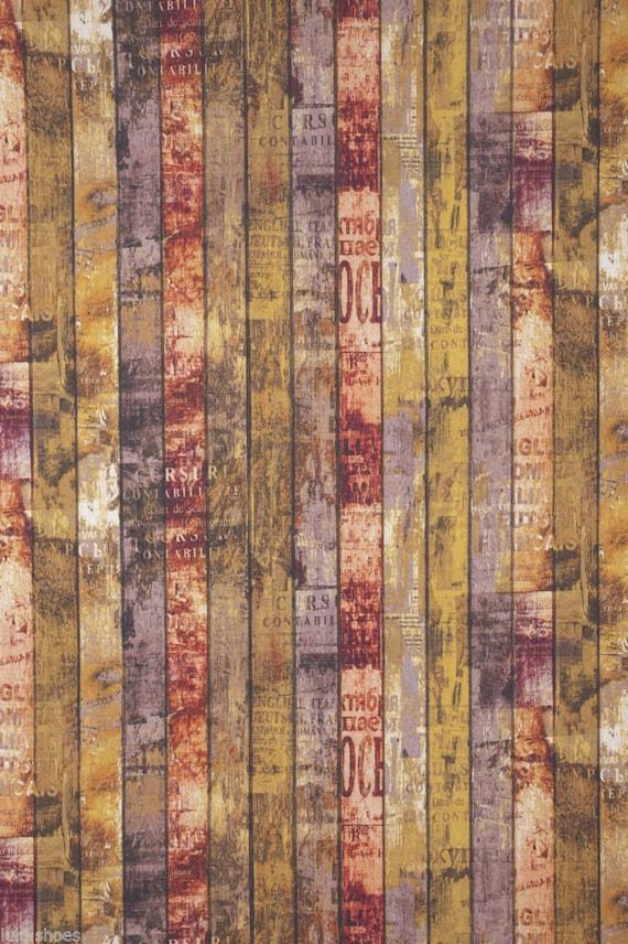 Vintage Floral Tela de peso de tapicería 150 Cm de Ancho-Ideal para Cortinas Cojines