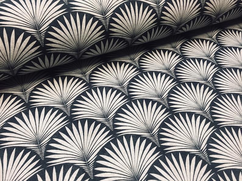 Art Deco Geometric Damask Floral Fan Fabric Gatsby Fountain image 0