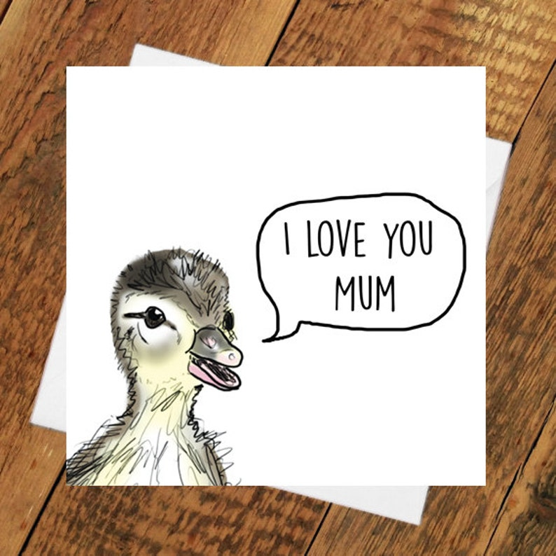 Mum Card Birthday Mothers day i love you mum best ever grandma image 0
