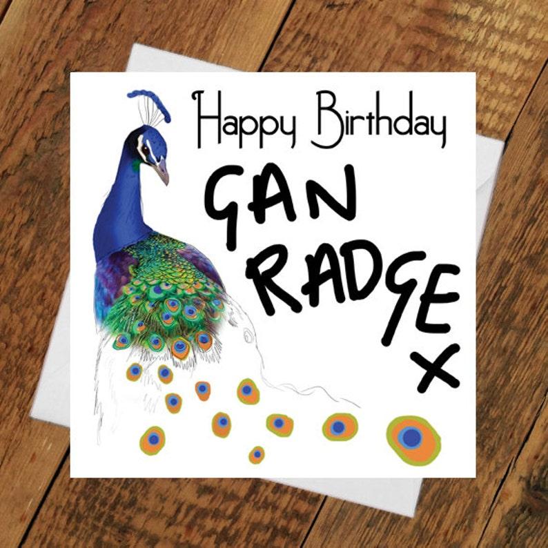 Happy Birthday Peacock Card GAN RADGE girlfriend Party Time image 0