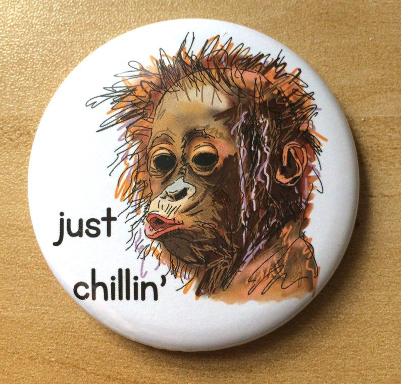 Orangutan Fridge Magnet Gift Boyfriend Girlfriend Monkey image 0