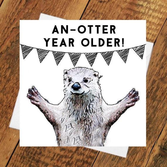 Super Otter verjaardag kaart vriendin vriendje partner man vrouw   Etsy &YX34