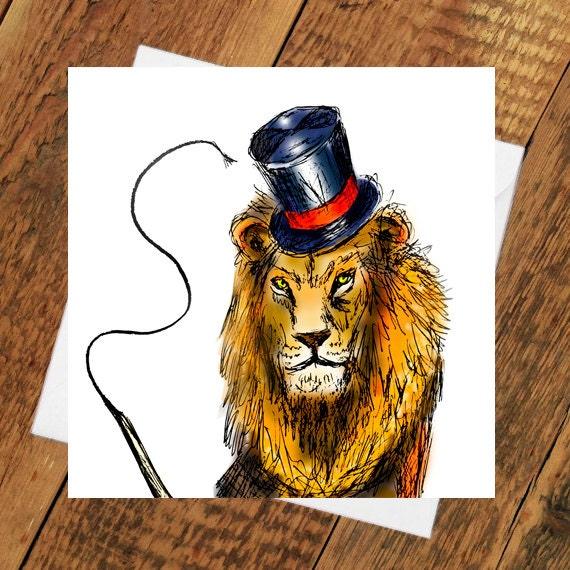 Lion Karte Geburtstag Fur Ihn Ihr Danke Bruder Schwester Tier Etsy