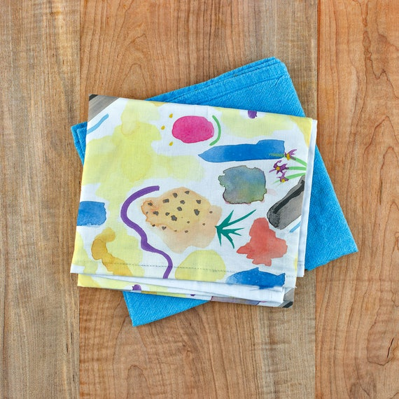 Watercolor Tea Towel Pineapple Print Printed Tea Towel Cotton Hand Towel Best Kitchen Towels Pineapple Gifts Tea Towel