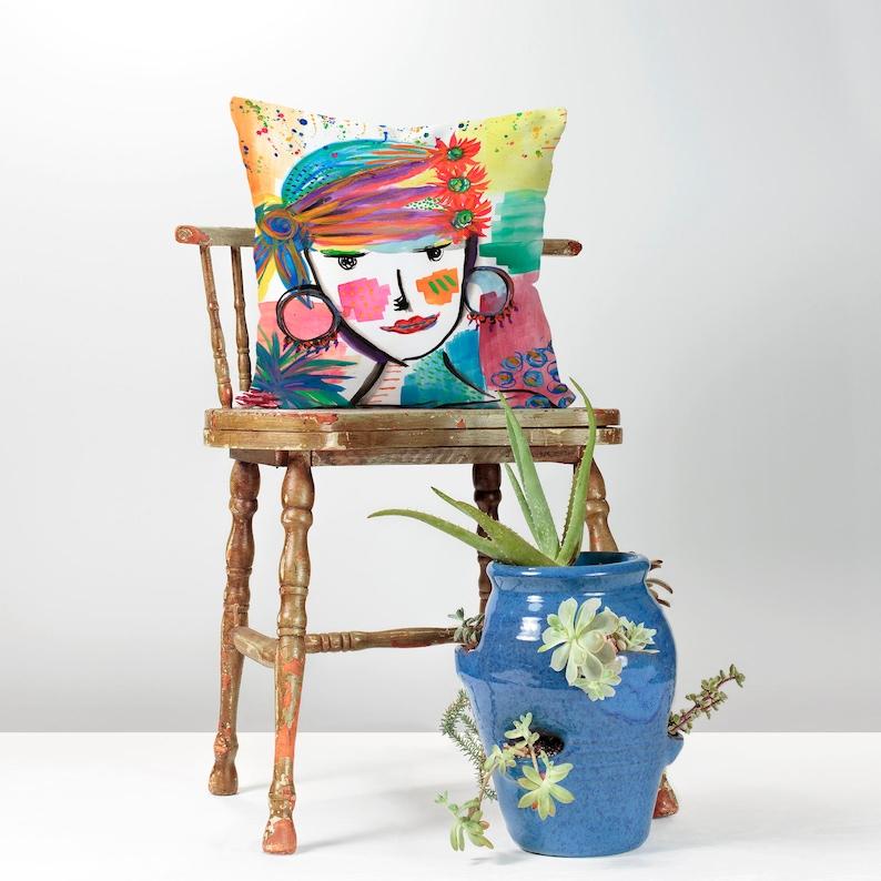 Decorative Throw Pillow  Watercolor Pillow  Throw Pillows  image 0