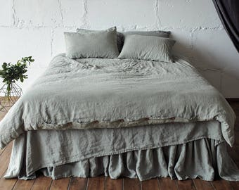 COMFORTER COVER Duvet Cover Bedding Set Queen Linen Duvet Cover Queen Sage Green  Duvet Cover King