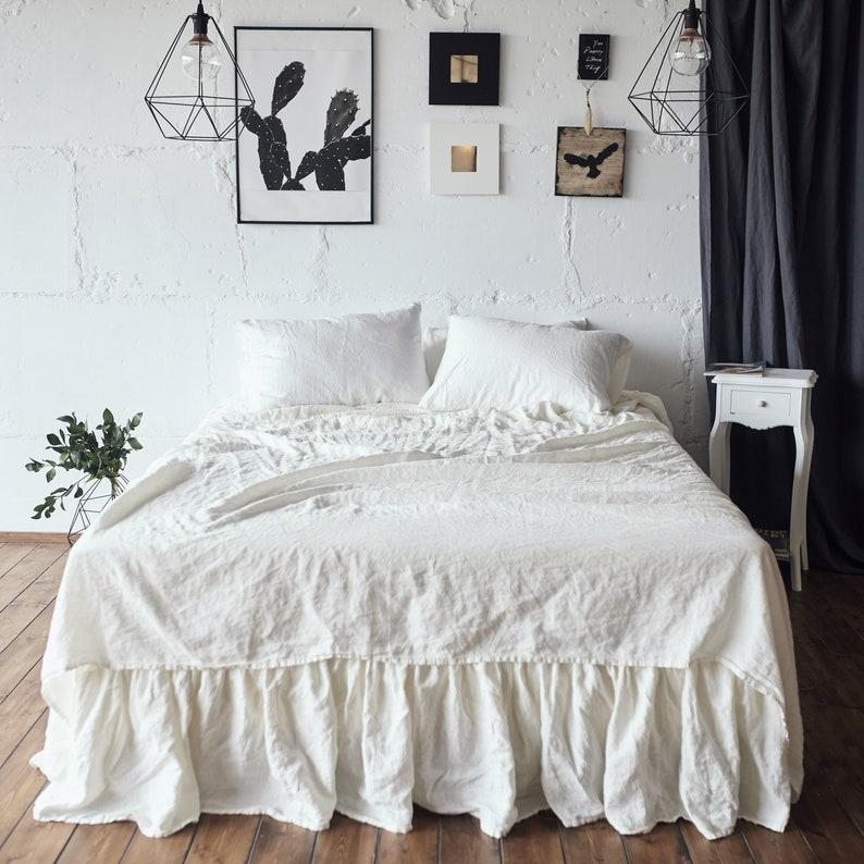 Antique Bed Set 100 Linen Sheet Set Slip Linen Sheet Set Etsy