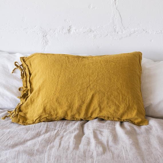 Linen pillow covers farmhouse pillow