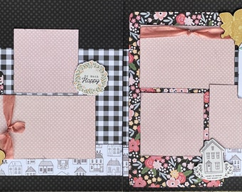 Best Day Ever 2 page Scrapbooking Layout Kit or Premade Scrapbooking Pages DIY Family craft