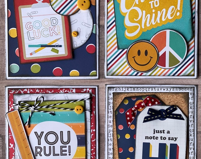 Featured listing image: You Rule Themed Card Kit- 4 pack DIY Card Kit Fourth of July DIY craft kit America diy craft kit
