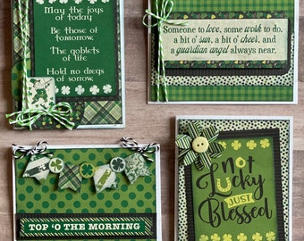 St. Patrick's Day Themed Card Kit- 4 pack