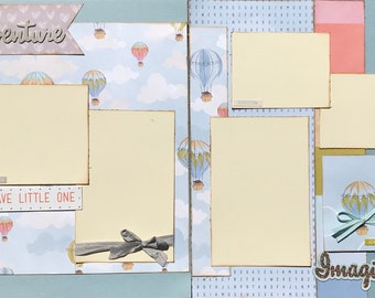 Be Brave Little One - Never Lose Your Sense of Adventure 2 page Scrapbooking Layout Kit or Pre Made Pages