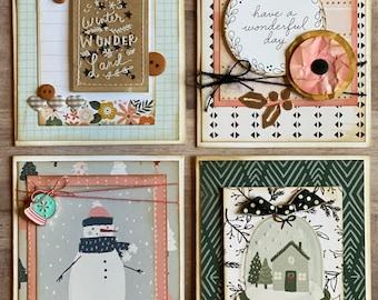 Winter General Themed Card Kit- 4 pack DIY Winter Card Making Kit