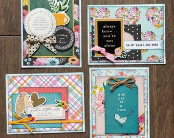 Sympathy Themed Card Kit Set 1 - 4 pack