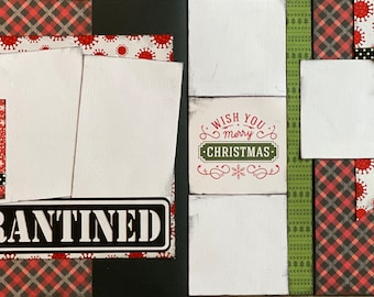 Quarantined Christmas  2 Page Scrapbooking Layout Kit Scrapbooking DIY Kit Quarantine Craft Kit DIY Christmas 2020