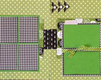 Oh Come Let Us Adore Him 2 Page Scrapbooking layout Kit or Premade Scrapbooking Pages