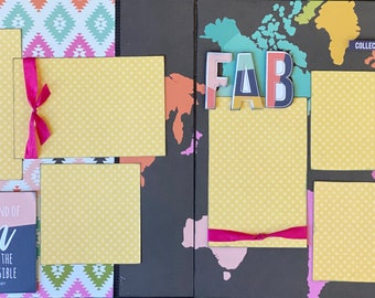 It's Kind of Fun to do the Impossible - FAB  2 Page Scrapbooking layout KIt or Premade Scrapbooking Pages