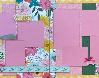 I Love it When Good Things Happen to Good People 2 Page Scrapbooking Layout Kit or Premade Scrapbooking pages
