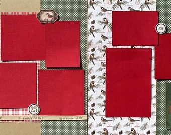 Joy to the World  2 Page Scrapbooking Layout Kit or Premade Scrapbooking Pages
