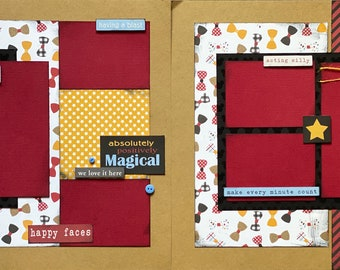Absolutely, Positively Magical Vacation, Disney Inspired 2 page Scrapbooking layout Kit or Preemade Scrapbooking, DIY Disney craft