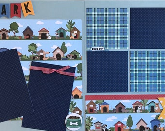 Good Dog / We Like Big Mutts and We Cannot Lie 2 Page Scrapbooking Layout Kit or Premade Scrapbooking Pages